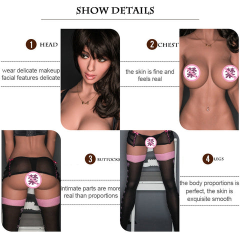 Physical doll | male adult sex toys sex doll simulation silicone solid doll 170cm