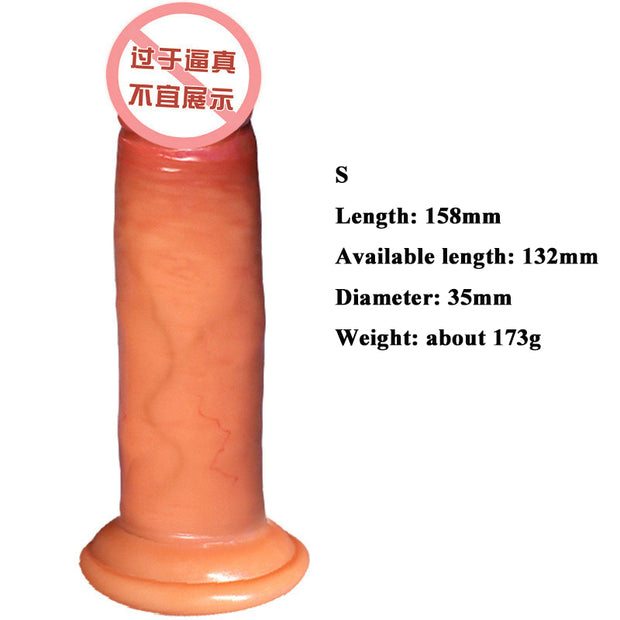 Double-layer real meat tyrant | Liquid silicone dildo | Adult sex toys full size - BULULU-SHOP (4344066408492)