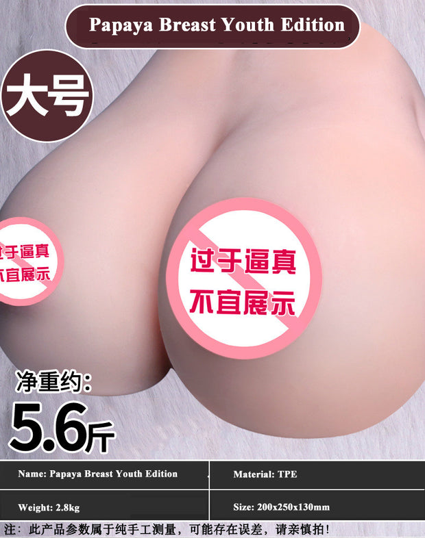 Double breast clip Yin breast inverted mold | Artificial breasts Adult sex toys Male masturbation device - BULULU-SHOP