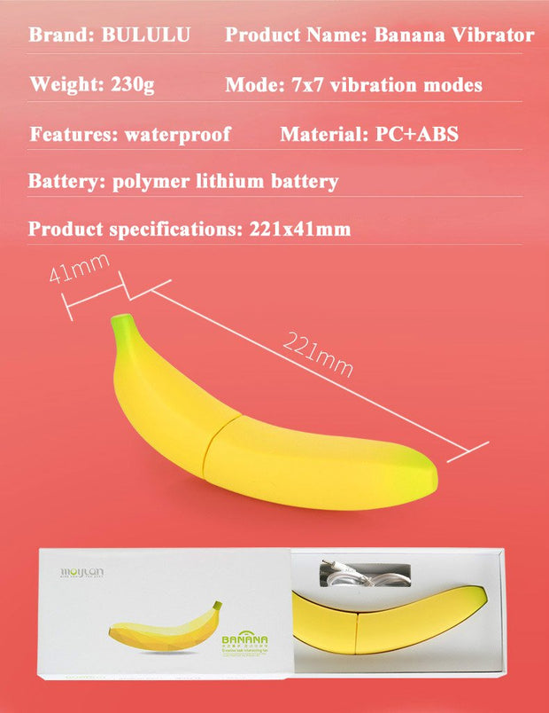 Banana vibrator | women's masturbation charging electric vibrator simulation penis adult products - BULULU-SHOP (4337341530156)