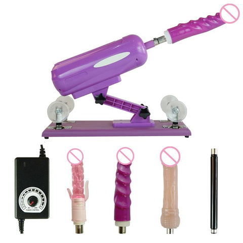 Automatic Sex Machines for Women Sex Products | Popular Sex Machine Vibrator Female Masturbating Dildos with 5 Attachments