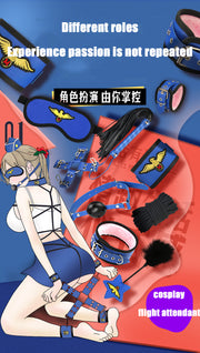BDSM Game Adult Sex Toy 10 Piece Set | Flight Attendant Policewoman Nurse Bunny Girl - BULULU-SHOP