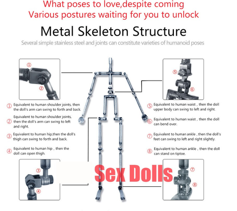 Real doll silicone real Japanese | Non-inflatable realistic adult sex products with bone inverted mold | Full size