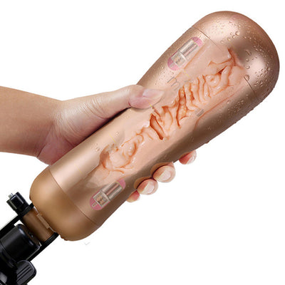 Men Sex Products | Rechargeable Hands Free Male Masturbator With Strong Suction Cup Artificial Vagina - BULULU-SHOP (4290023817275)