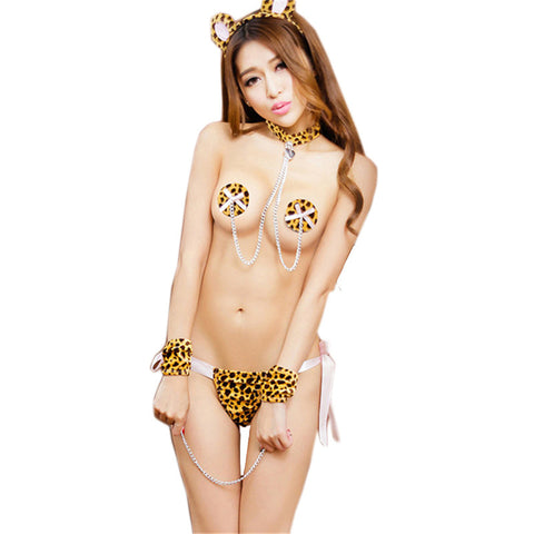 Sexy Lingerie Exotic Apparel Sexy Costumes Sets Cat Cosplay | Party Clothes Sexy Underwear