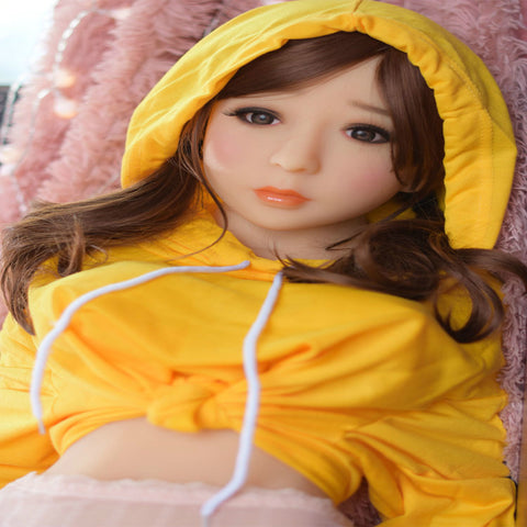 MINI SEX DOLLS | 125cm solid doll TPE big breasts live-action non-inflatable male doll with skeleton | Nina