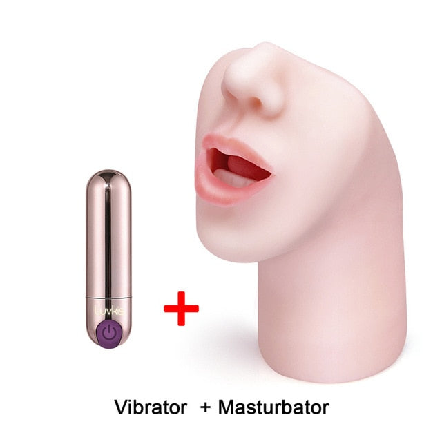 Sex Toys | Male Masturbator 3D Deep Throat with Tongue Teeth Nose