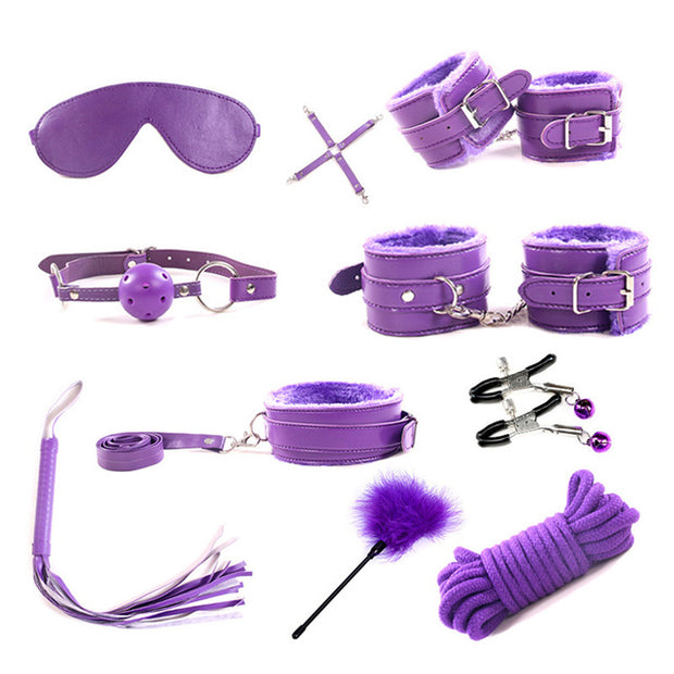BDSM Games Adult Sex Toys Kit For Couples | Dildo Vibrator Anal Plugs Handcuffs Whip Nipples Clip Blindfold Breast Pump - BULULU-SHOP (2310924337211)