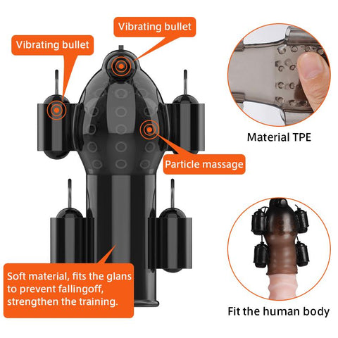 Male Masturbation | Sex Toys for Men Penis Trainer Glans Vibrator Penis Sleeve Enhancement Delay Lasting Glans Trainer Erection