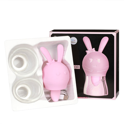 Women Masturbation Female Nipper Massager | Tongue Licking Sucking Vibrator Cute Rabbit Shape breast clitoris stimulation