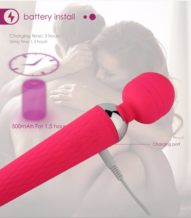 Vibrators Massager Oral Clit Adult Sex Toys Vibrator Erotic Toys | Powerful Vibrator for Woman AV Dildos 10 Speed Magic Wand - BULULU-SHOP (2310878363707)