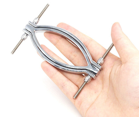 Pussy Spreader Stimulator | Thumbscrews Metal Labia Clamps | BDSM Bondage
