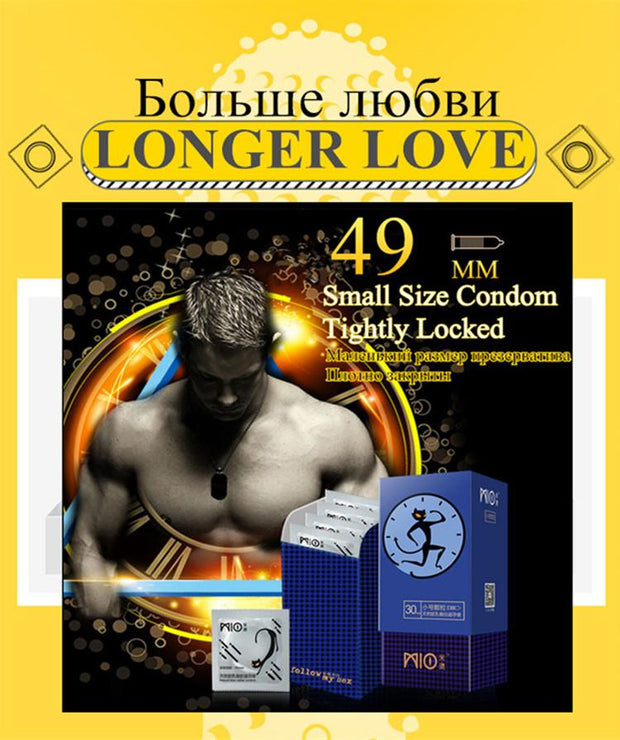 Sex Toys Products | Small Condoms size for Men 49mm spike dotted Condom Delay Ejaculation Big Particle Stimulation Ultra Thin - BULULU-SHOP (4325077778476)
