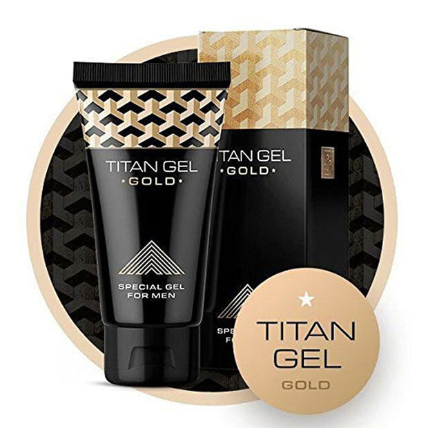 Titan Gel Gold Intimate Gel Sex Products for Adults Increased Male Potency Penis Enlargement Cream Big Dick Enhancer - BULULU-SHOP