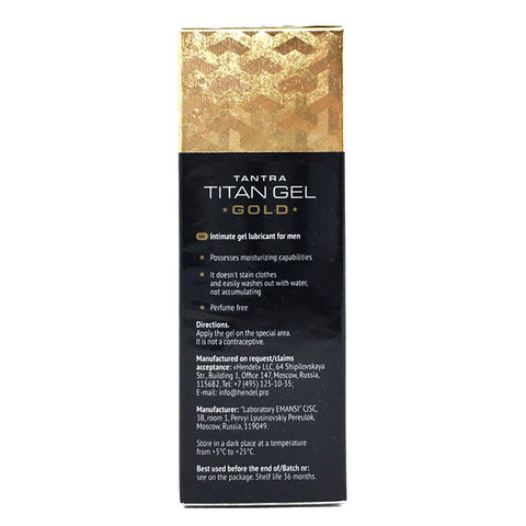 Titan Gel Gold Intimate Gel Sex Products for Adults Increased Male Potency Penis Enlargement Cream Big Dick Enhancer