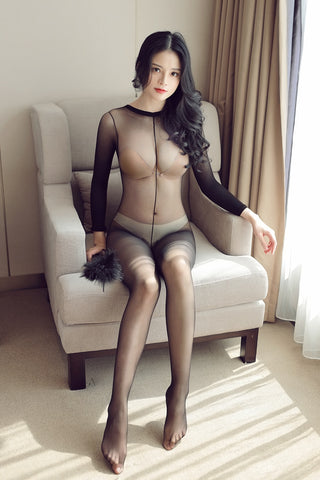 Women Crotchless sheer bodystocking | Full Body shiny pantyhose sexy open crotch girl High elastic Tights Stocking