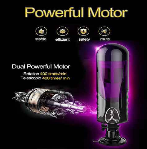 Electric Piston Male Masturbator | Automatic Vibrator 10 Kind Rotation Telescopic Smart Voice Masturbators Sex Toys for Adults Men