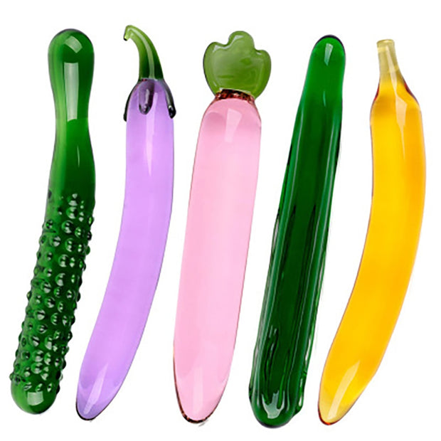 Fruit Vegetable Shape Female Masturbation | Pyrex Glass Dildo - BULULU-SHOP