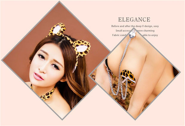 Sexy Lingerie Exotic Apparel Sexy Costumes Sets Cat Cosplay | Party Clothes Sexy Underwear - BULULU-SHOP (4350438441004)