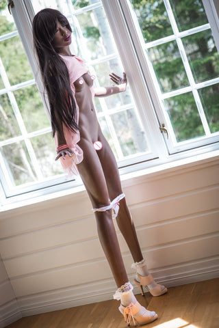 Lifelike tpe sex doll 168cm real vagina hot sex full body black skin color | Sex doll silicone real love doll