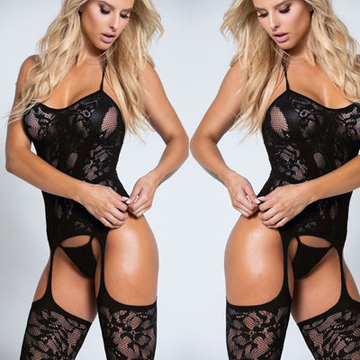 Porno Sexy Lingerie Plus Size | Crotchless Erotic Lingerie Babydoll - BULULU-SHOP (4349792354348)