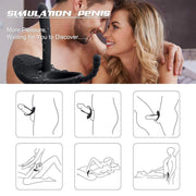 Penis Vibration Ring Cock Prostata Massage | Delay Ejaculation Clitoris Stimulator Anal Beads Vibro Panties Sex Toys For Couples - BULULU-SHOP