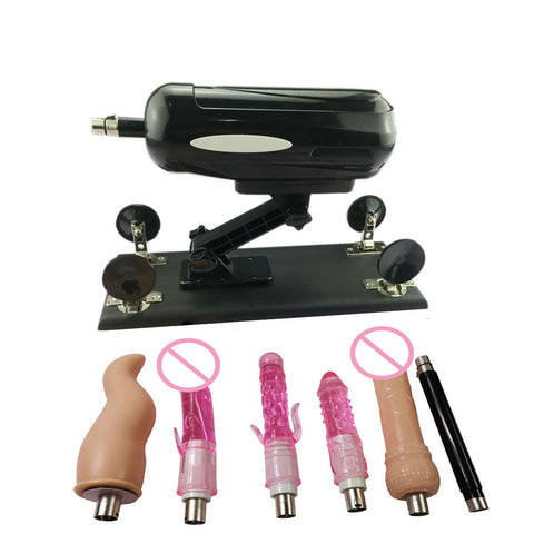 Dildo Adjustable Speed Vibrator Gun Sex Toys for Women | F2 Massage Tool Automatic Sex Machine Gun with 6 Accessories