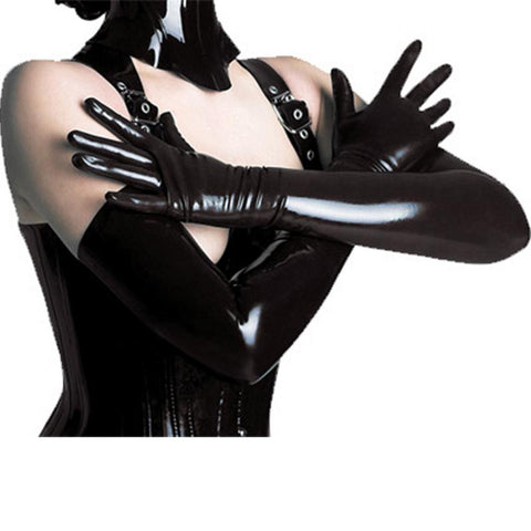 SM Games | Women Long Gloves  Black Color Flexible Sexy Elegant Longer Gloves