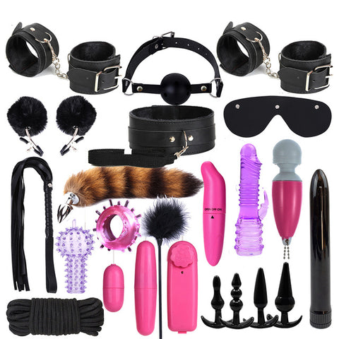 SM props adult couples sex toys | vibrator female masturbator stick | 24pcs sex toys set