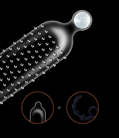 Sex Toy Adult Product | Ribbed Dotted Condom Special Soft Silicone Ball Condoms Penis Extender Sleeve G Spot Stimulation