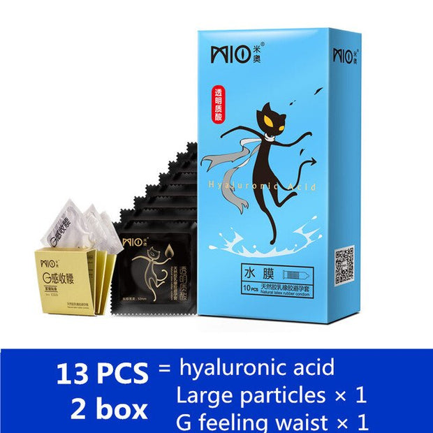 Adult Erotic Products for Man | Spike Condom Hyaluronic Acid Lubricant Condoms Natural Latex 2 Styles Ultra-thin Penis Sleeves - BULULU-SHOP (4328018083884)