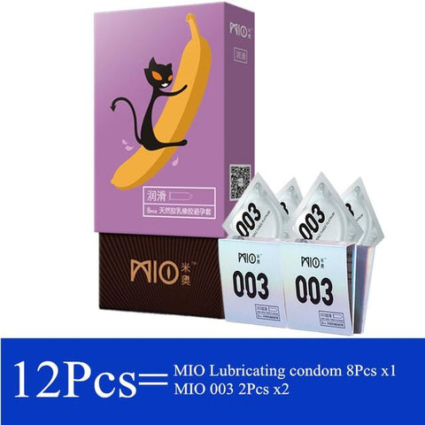 Men Sex Shop Product | Lubricating Ultra-Thin Condom 12/24/48Pcs/1 Lot Natural Latex Water Soluble Smooth Surface Condoms