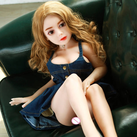 100cm Real Life Silicone Sex Doll Lifelike Breasts Vagina Anus Full TPE Skeleton Male