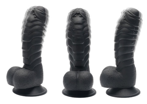 Realistic Big Dildo | Life like Large Dong With Suction Cup and Nubs Soft Anal Plug Adult Sex Toy