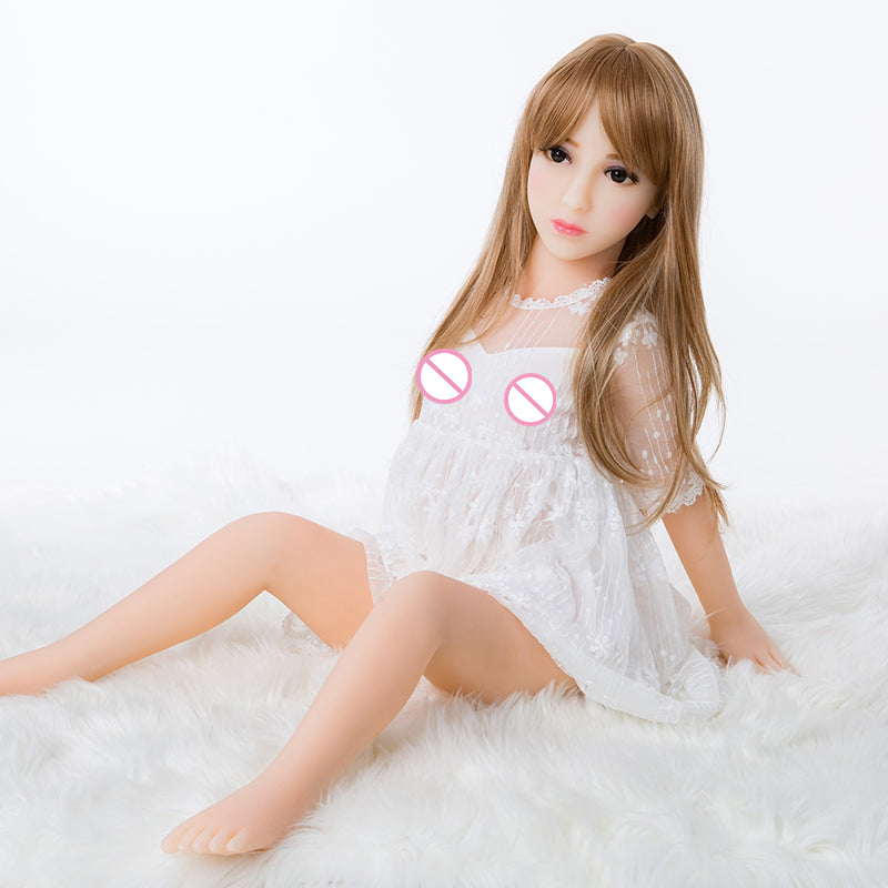 Low Price Small Pussy 100cm Sex Doll | Flat Chest Realistic Vagina Carton Love Dolls 100% Tpe