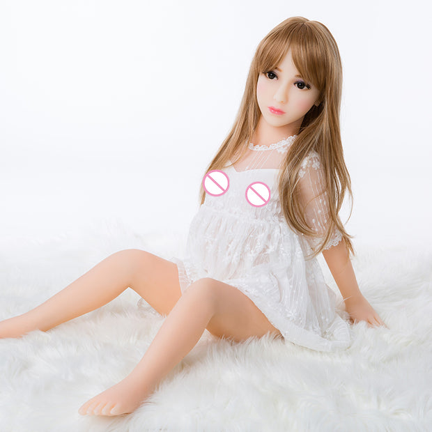 Low Price Small Pussy 100cm Sex Doll | Flat Chest Realistic Vagina Carton Love Dolls 100% Tpe - BULULU-SHOP