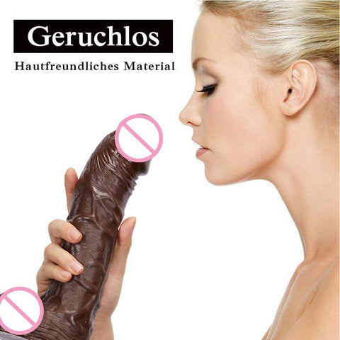 Realistic Silicone Dildo Large Dildo Sex Toys 380g  | Women with Thick Glans with Powerful Suction Cup Stiff Cock