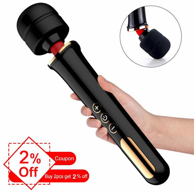 AV Magic Wand Personal Body Massage Clitoral Stimulator Big Head Vibrator Erotic Sex Toys | Powerful Clit Vibrator For Woman Huge - BULULU-SHOP