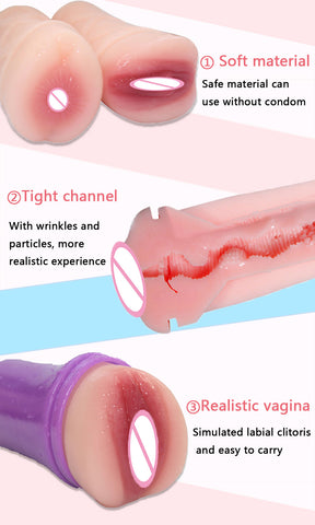 Silicon Sex Toys for Men Pocket Pussy Real Vagina Male Sucking Masturbator | 3D Artificial Vagina Fake Anal Erotic Adult Toy