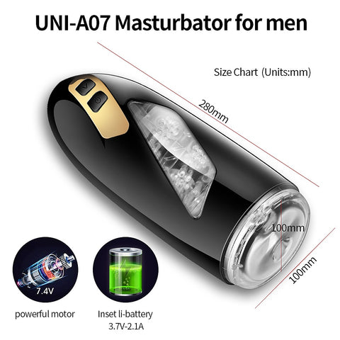 Automatic Masturbator for Men | Telescopic Rotation Piston Vagina Anal Male Adult Toys 18+ Sex Toys for Men Masturbating
