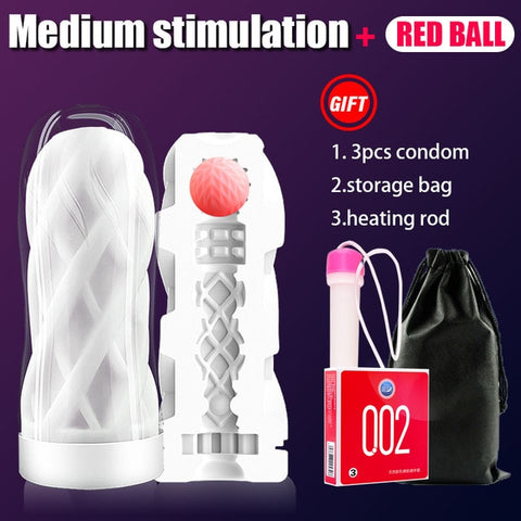 Male Masturbator Cup Soft Pussy Sex Toys | Transparent Vagina Adult Endurance Exercise Sex Products Vacuum Pocket Cup