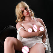 Silione Fat Doll 165cm | Full Size Sex Dolls Huge Breast and Ass Realistic Vagina Oral Anal lifelike Adult Doll - BULULU-SHOP