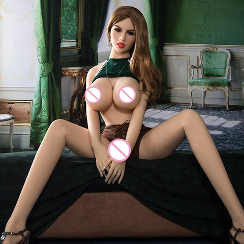 Realistic Silicone Size Sex Doll | Big Breasts Lifelike Doll with Metal Skeleton Oral Vaginal Sex Doll Love Doll