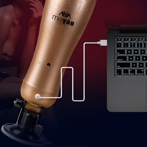 Men Sex Products | Rechargeable Hands Free Male Masturbator With Strong Suction Cup Artificial Vagina