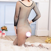 Intimate netting slips bodystocking | Perspective tempation open crotch Sexy Lingerie Hot Babydoll Sex Dress Crotchless - BULULU-SHOP
