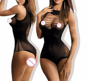 Babydoll Sexy Lingerie Lace | Women Fishnet  Open Crotch Sleepwear Sexy Costumes - BULULU-SHOP