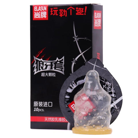 Big Particle Penis Sleeve | 10 PCS/Box G Point Stimulation Condom Pleasure Lubrication Passion Series Erotic Condoms