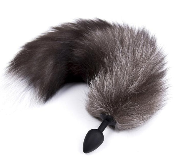 Cosplay Accessories | Fetish Soft Wild Fox Tail Metal Steel | Silicone Anal Plug Butt Plug for Women - BULULU-SHOP