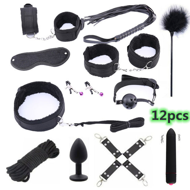 Leather Erotic BDSM Sex Kits | Erotic Sex Toys For Adult Game | Bondage Handcuffs Sex Game SM Bdsm Toys - BULULU-SHOP (4201234956347)