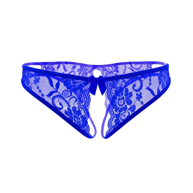 Women Sexy Lingerie hot erotic sexy panties | Crotchless underpants sex wear briefs with bow front - BULULU-SHOP